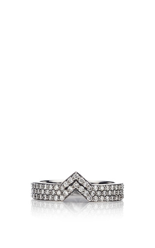 Celia Stacking Ring Black And White Gold by PAIGE NOVICK for Preorder on Moda Operandi