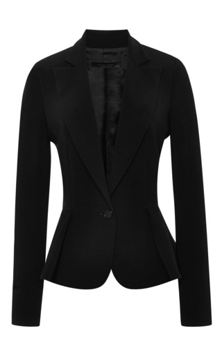 Elie Saab Black Peplum Jacket by ELIE SAAB for Preorder on Moda Operandi
