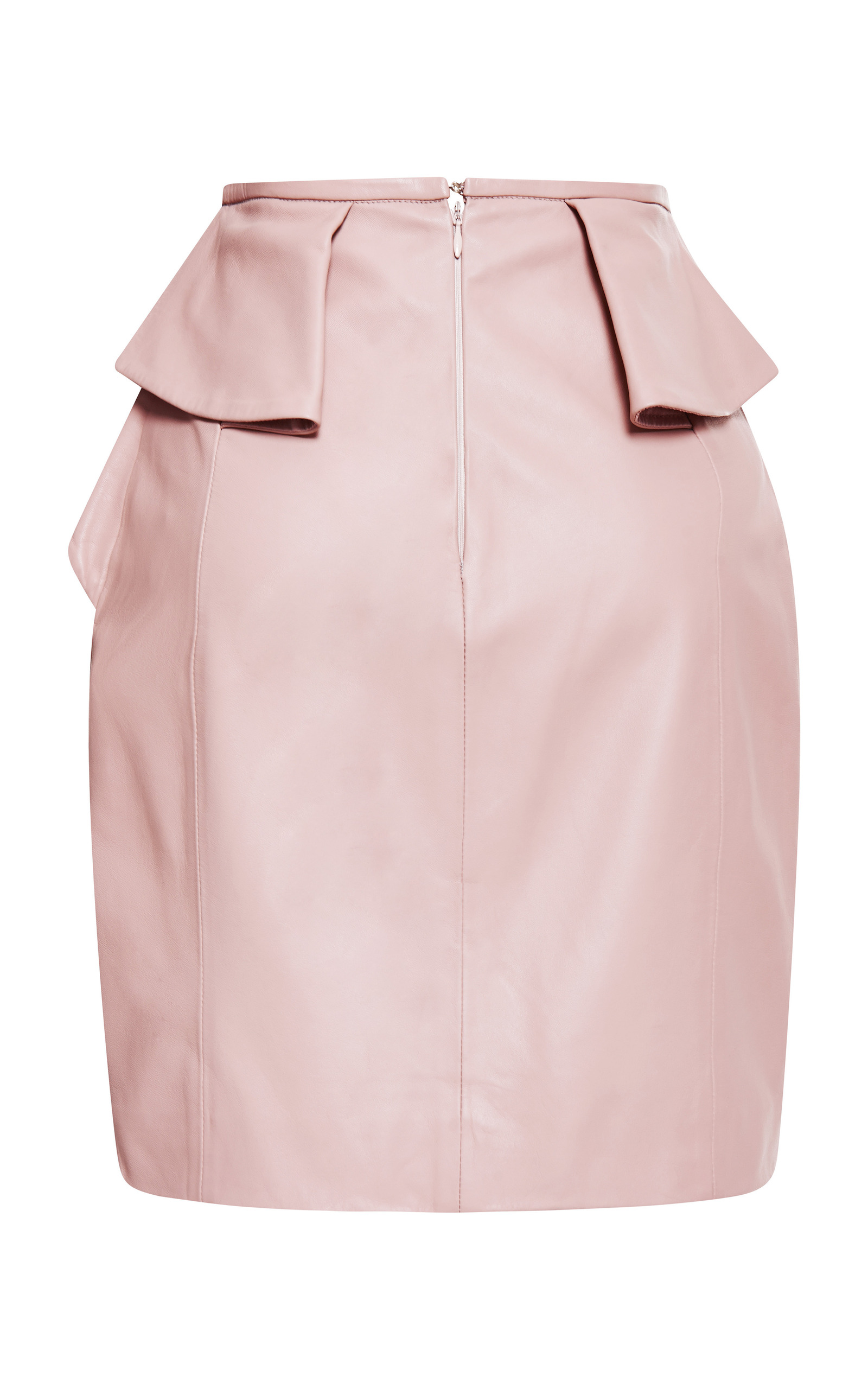 Blush Peplum Leather Skirt by Elie Saab | Moda Operandi