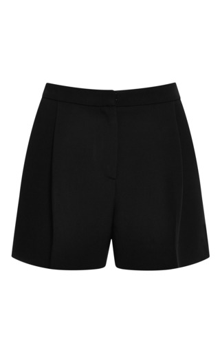 Medium elie saab black black lace insert shorts