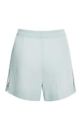 Mint Lace Shorts by ELIE SAAB for Preorder on Moda Operandi