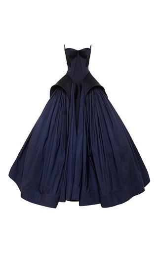 Medium zac posen blue royal blue tafetta gown