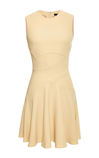 Medium elie saab yellow iris crepe cady crisscross dress
