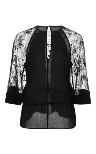 Black Lace Sleeve Tunic by ELIE SAAB for Preorder on Moda Operandi