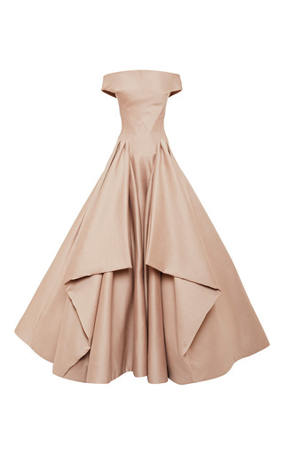 Medium zac posen pink blush ottoman gown