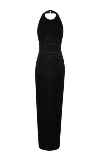 Medium elie saab black black halter gown