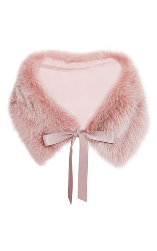 Blush Fox Stole by ELIE SAAB for Preorder on Moda Operandi