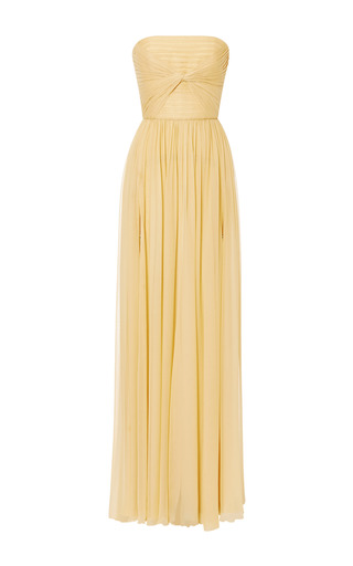 Iris Silk Georgette Knot Motif Gown by ELIE SAAB for Preorder on Moda Operandi