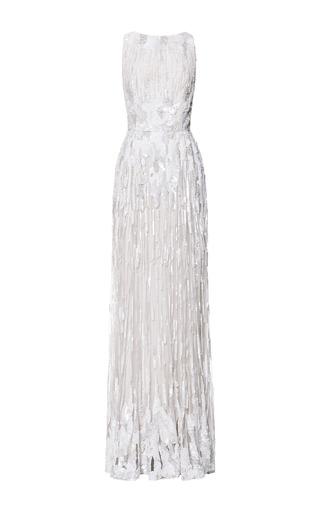 Medium elie saab white jasmine embroidery gown