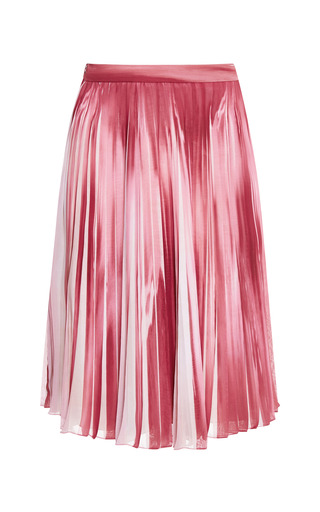 Begonia Printed Pleated Skirt by ELIE SAAB for Preorder on Moda Operandi