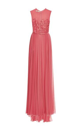 Medium elie saab pink begonia embroidered bodice gown