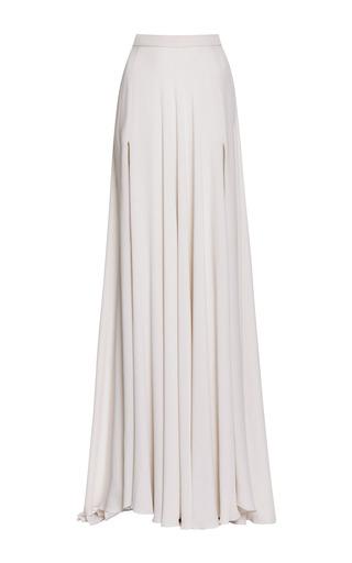 Medium elie saab white jasmine silk georgette maxi skirt