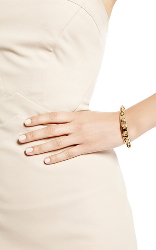 Rocker 18 K Gold Plated Medium Cuff by MONICA SORDO Now Available on Moda Operandi