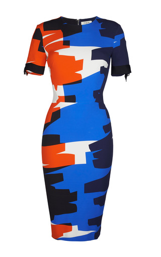 Medium mugler print orange graffiti cady dress