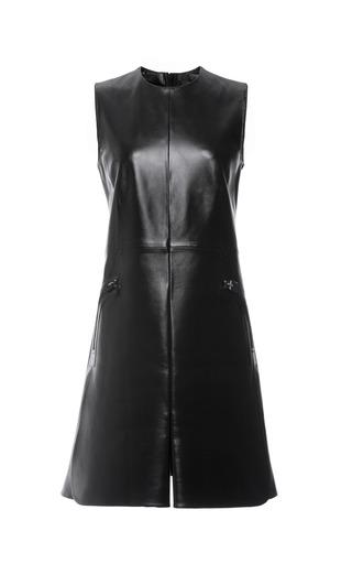 Black Textured Leather Sleeveless Dress by CALVIN KLEIN COLLECTION for Preorder on Moda Operandi