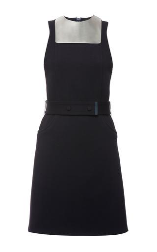 Indigo Knit Rib Metal Bib Sleeveless Dress by CALVIN KLEIN COLLECTION for Preorder on Moda Operandi