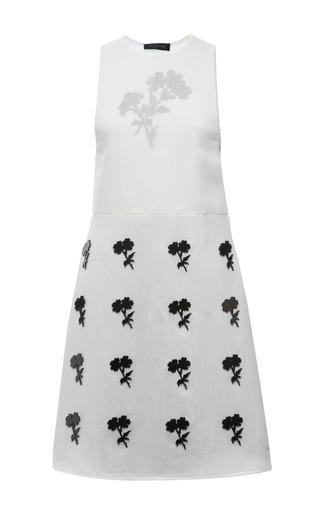 White Techno Silk Gauze Lucite Flower Sleeveless Dress by CALVIN KLEIN COLLECTION for Preorder on Moda Operandi