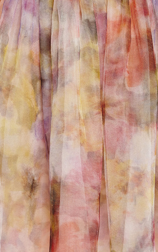 Floral Print One Shoulder Cocktail Dress by MARCHESA for Preorder on Moda Operandi