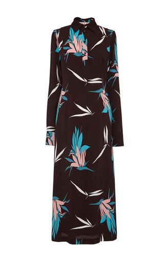 Medium marni multi birds of paradise print polo dress
