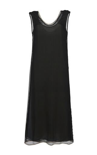 Medium marni black black sheer silk tank dress
