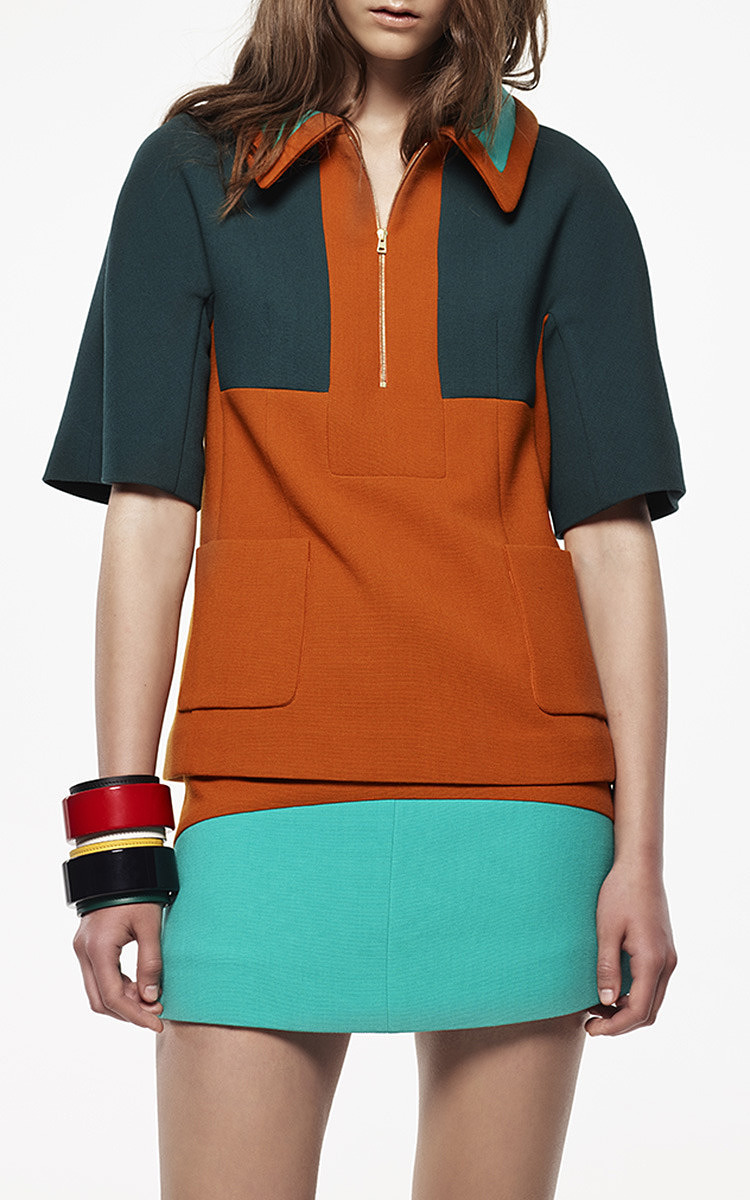 218c3565 MarniColor-Block Bonded Wool Jersey Polo Top. CLOSE. Loading. Loading.  Loading