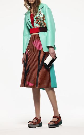 Raffia Flower A Line Skirt by MARNI for Preorder on Moda Operandi
