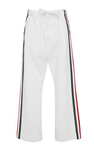 Medium marni white white denim drawstring trousers