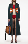 Hunter Green Duster Coat by MARNI for Preorder on Moda Operandi