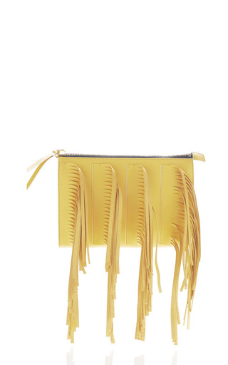 Medium marni multi maize fringe pochette