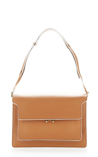 Medium marni brown cinnamon trunk shoulder bag