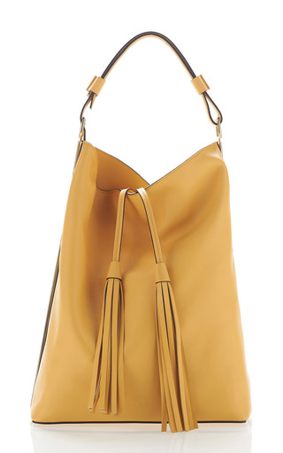 Medium marni yellow dawn large tassle hobo bag