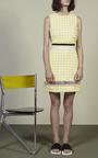 Yellow Check Sheath Dress by MSGM for Preorder on Moda Operandi