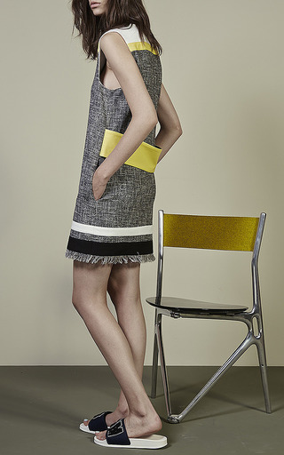 Sleeveless Tweed Shift Dress by MSGM for Preorder on Moda Operandi