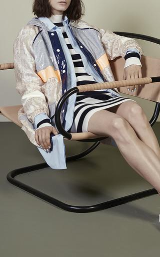 Navy And White Stripe Knit Dress by MSGM for Preorder on Moda Operandi
