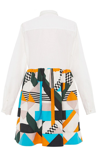 Optical Patchwork Shirt Dress by MSGM for Preorder on Moda Operandi