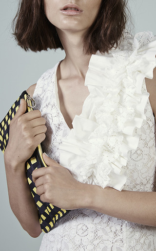 White Lace Sheath Dress by MSGM for Preorder on Moda Operandi