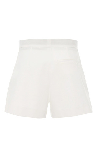 White Cotton Pique Shorts by MSGM for Preorder on Moda Operandi