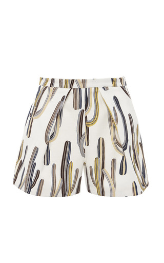 Medium msgm print white cactus print shorts