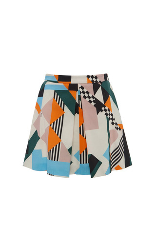 Medium msgm print optical pique print mini skirt