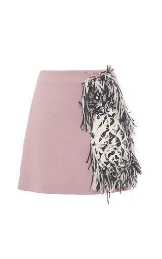 Medium msgm pink fringe pineapple skirt