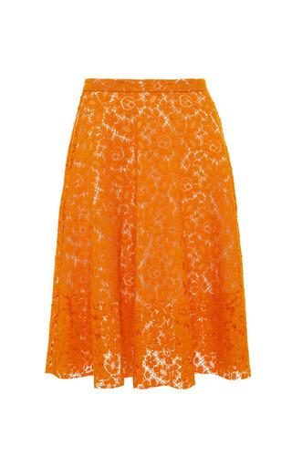 Medium msgm orange orange lace a line skirt