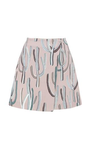 Medium msgm multi cactus print wrap skirt