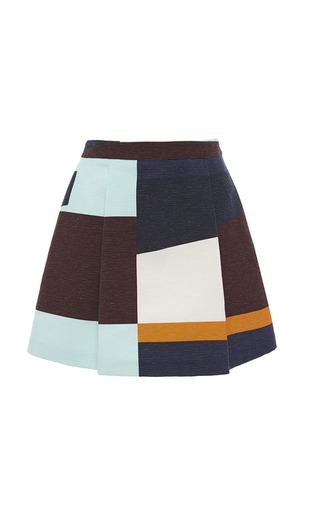 Medium msgm multi color blocked mini skirt