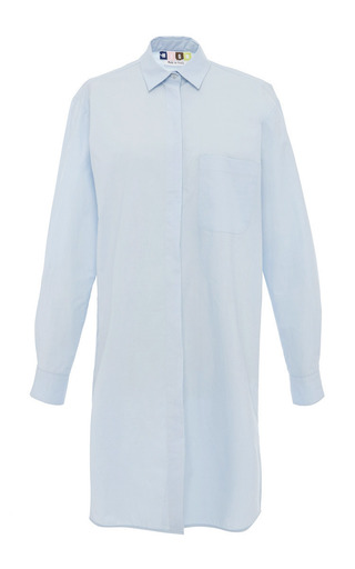 Medium msgm blue pale blue shirt dress