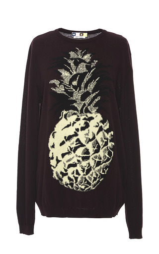 Medium msgm red pineapple sweater