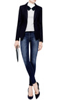 Slim High Rise Skinny Jeans by GENETIC LOS ANGELES Now Available on Moda Operandi