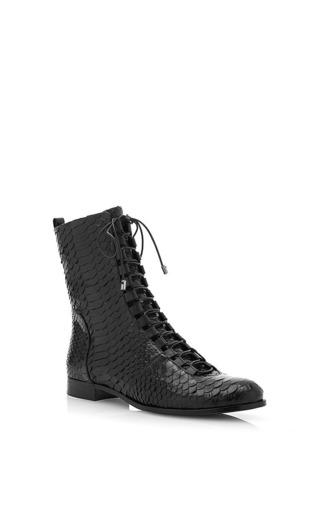 Medium alexandre birman black python boot in black