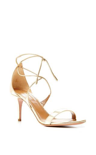 Medium aquazzura gold linda sandal