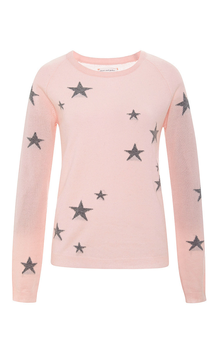 8752d055c4 Star-Intarsia Cashmere Sweater by Chinti and Parker