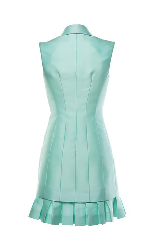 Seafoam Green Duchess Waistcoat Dress by ANTONIO BERARDI for Preorder on Moda Operandi